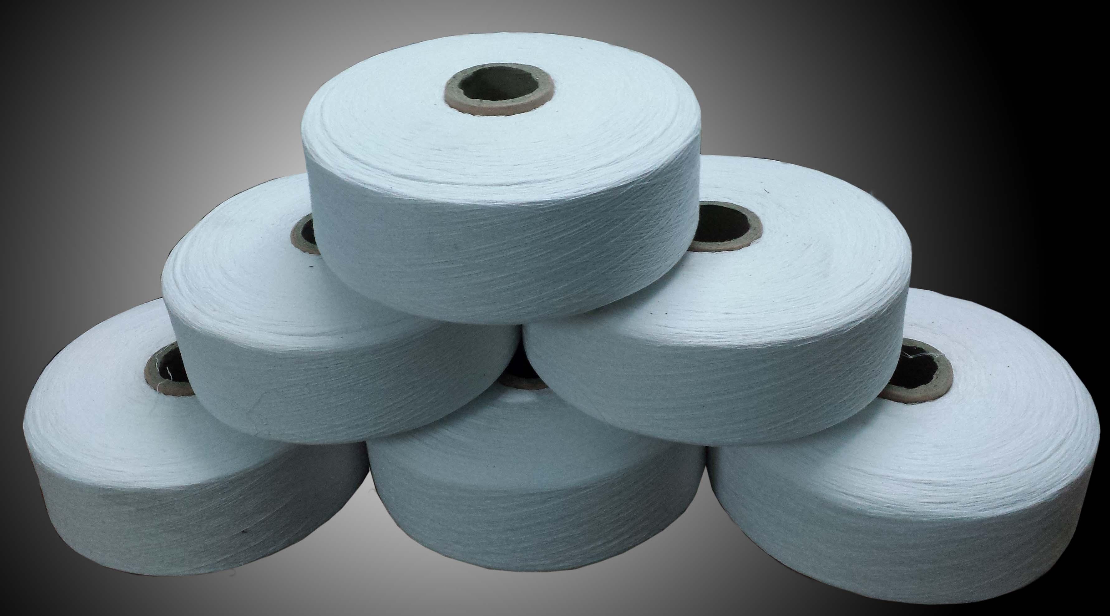 Sợi cotton trắng tẩy làm găng